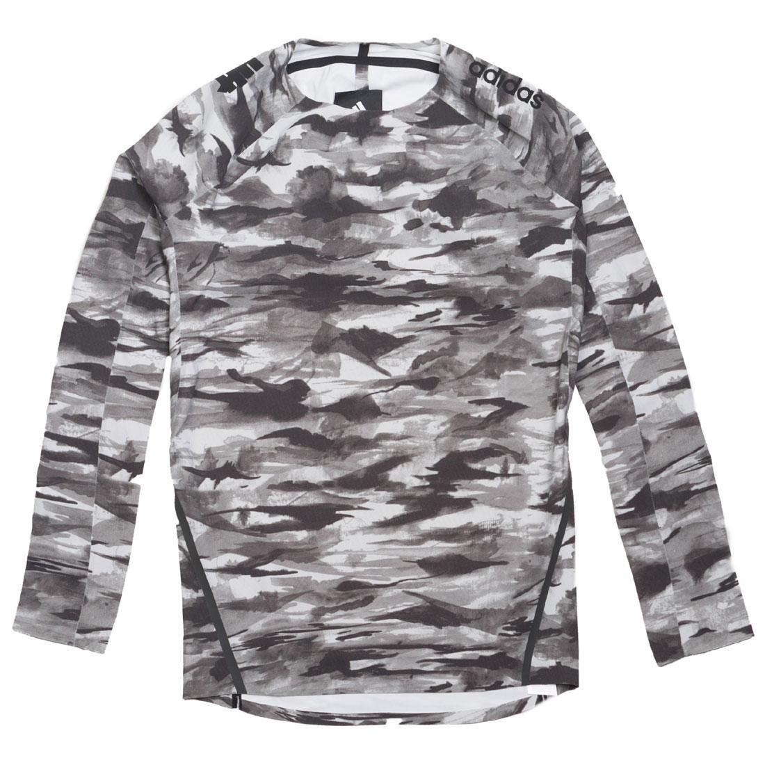05720cedb4331 Adidas x Undefeated Men Alphaskin 360 1/1 Top Long Sleeve Tee black white  shift grey