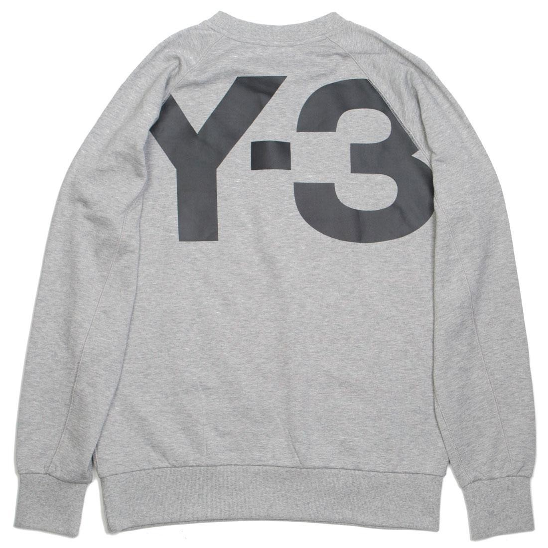 Adidas Y-3 Men Classic Crew Logo Back Sweater (gray / grey heather)