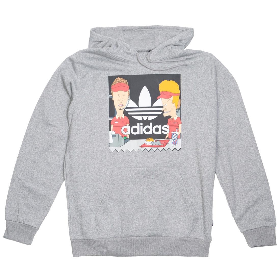 competitive price 07449 8d1be Adidas Men Beavis and Butthead Hoodie (gray / core heather)