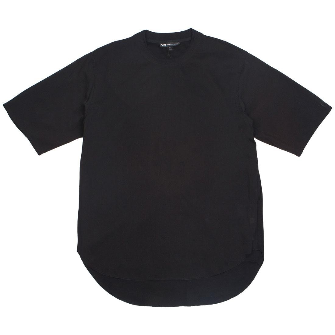 Adidas Y-3 Men Tencel Cotton Long Crew Short Sleeve Tee (black)