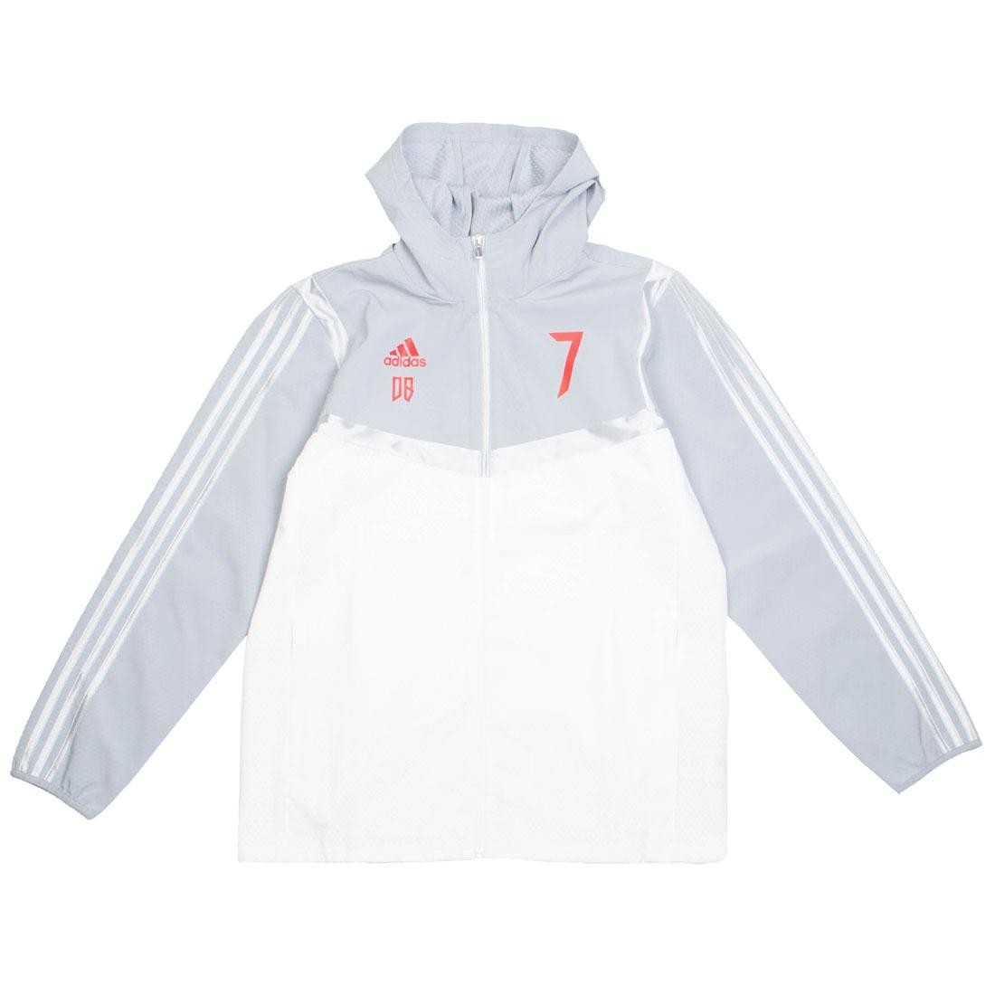 Adidas Men Predator David Beckham Hooded Jacket (white / light grey)