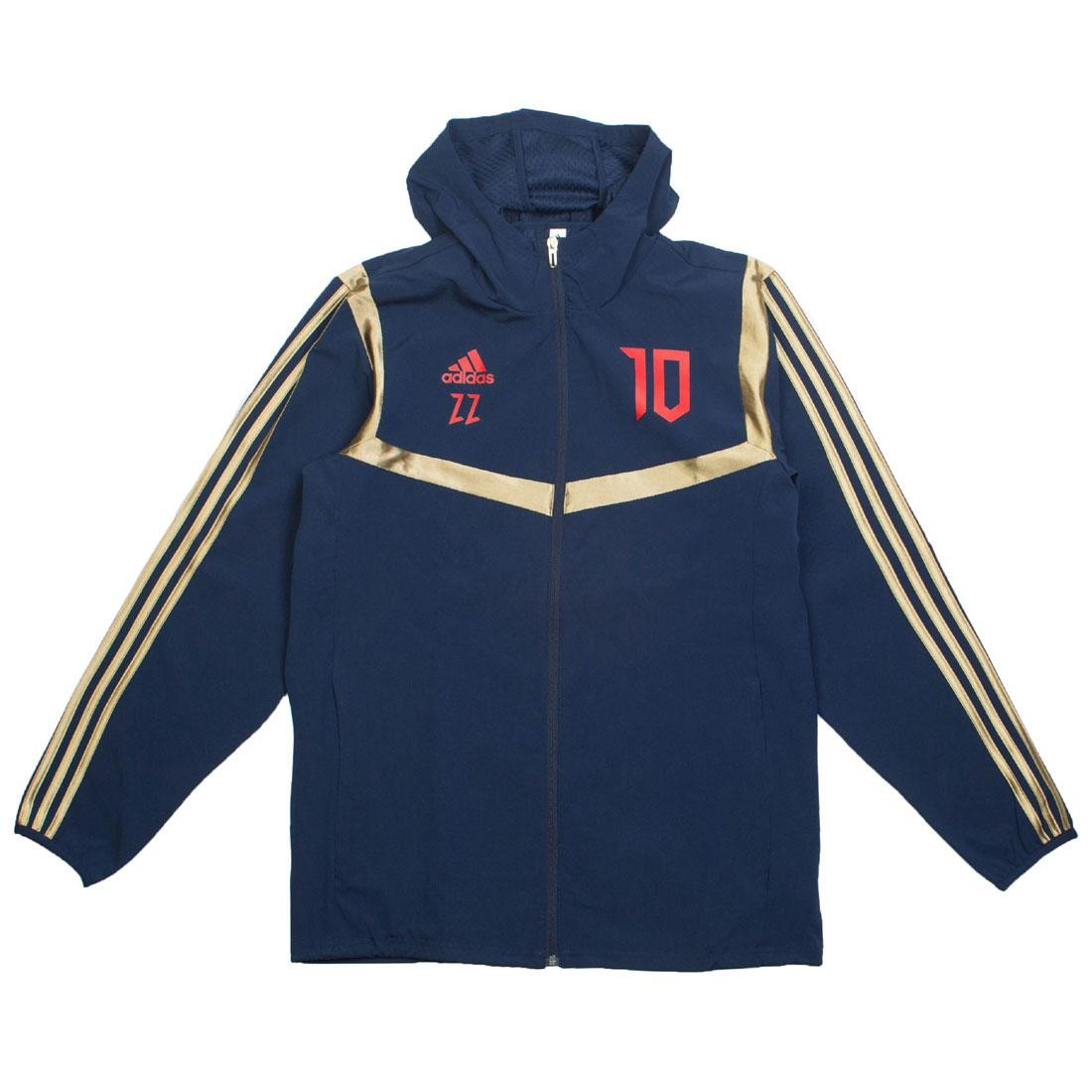 Adidas Men Predator Zinedine Zidane Hooded Jacket (navy / collegiate navy / red)