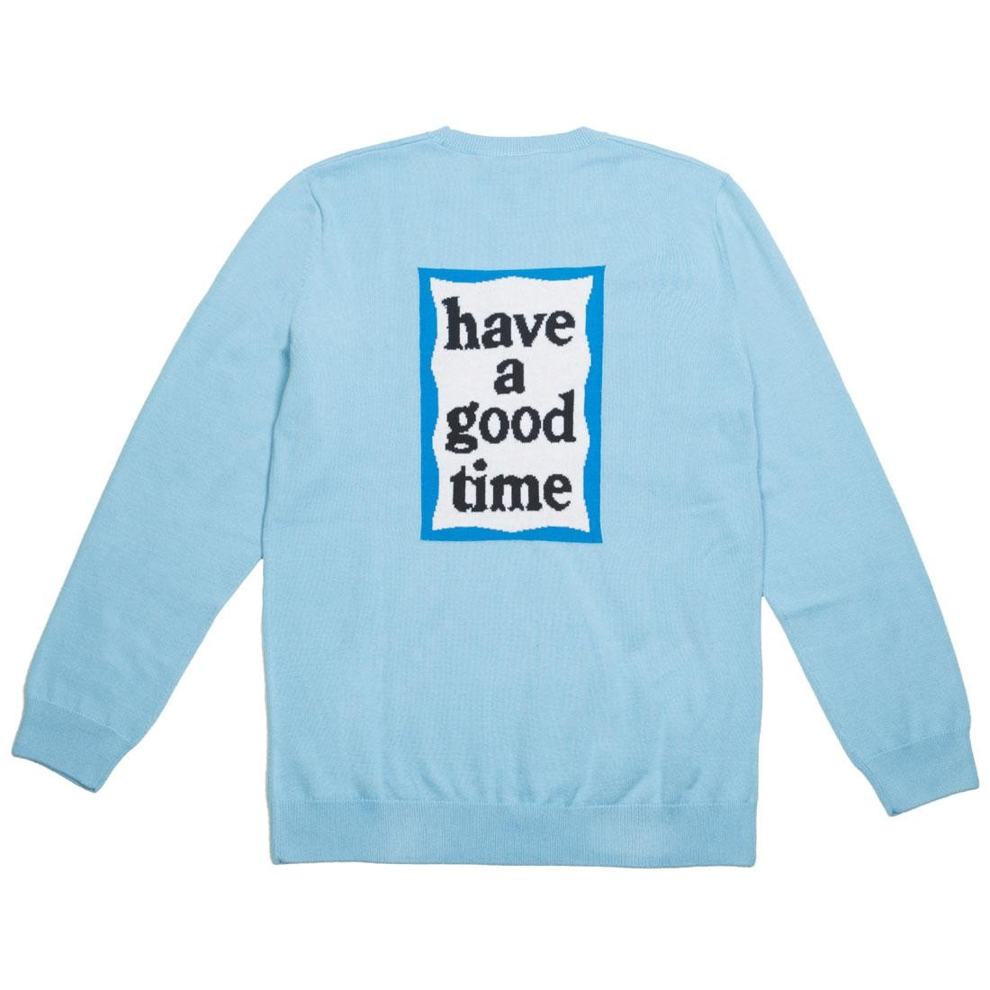 Adidas x Have A Good Time Men Summer Knit Sweater (blue / clear blue)