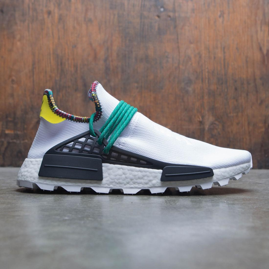 meet 4c544 f3c34 Adidas x Pharrell Williams Men Solar HU NMD (white / cloud white / bold  green / bright yellow)