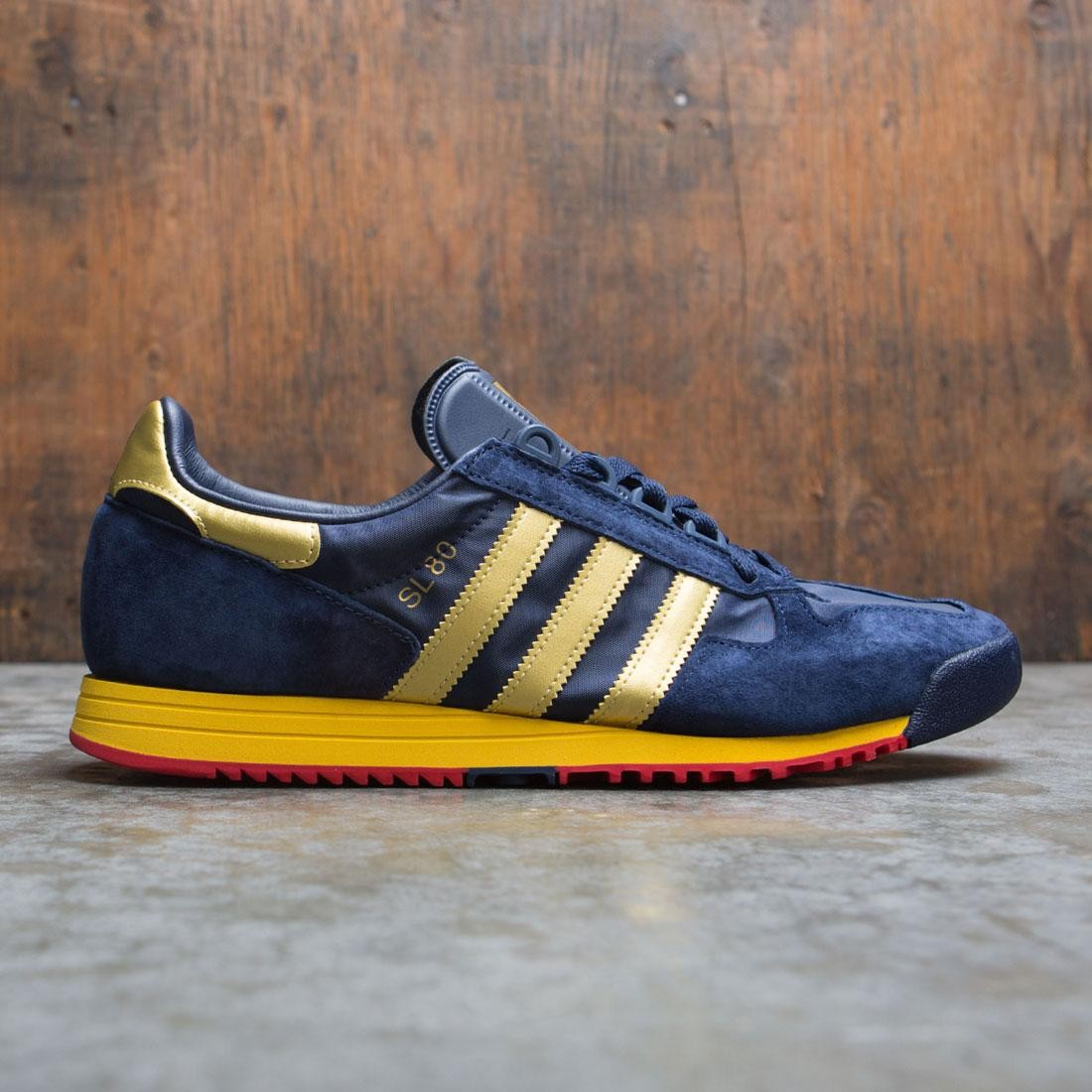 Adidas Men SL 80 Spezial (navy / collegiate navy / gold metallic / scarlet)