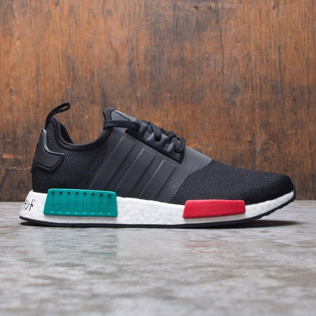 Adidas Men NMD R1 (black / glory green / lush red)