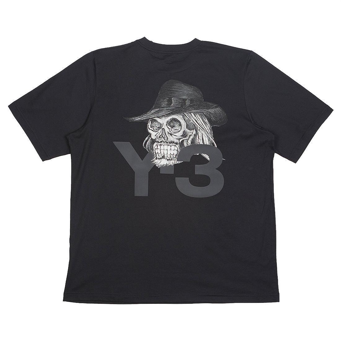 cf4ae0818 Adidas Y-3 Men Yohji Skull Short Sleeve Tee black