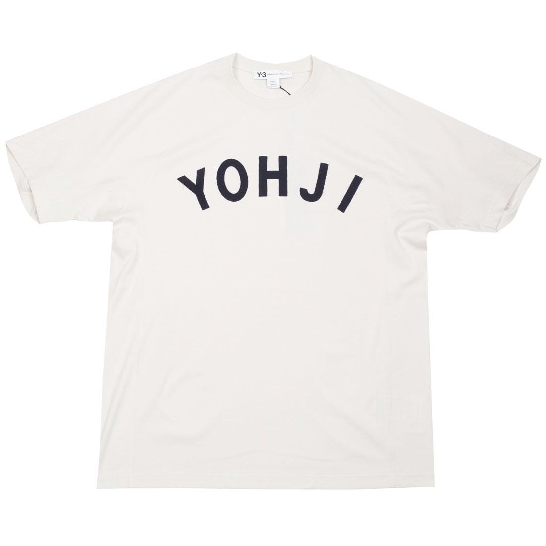 Adidas Y-3 Men Yohji Letters Short Sleeve Tee (beige / ecru / legend ink)