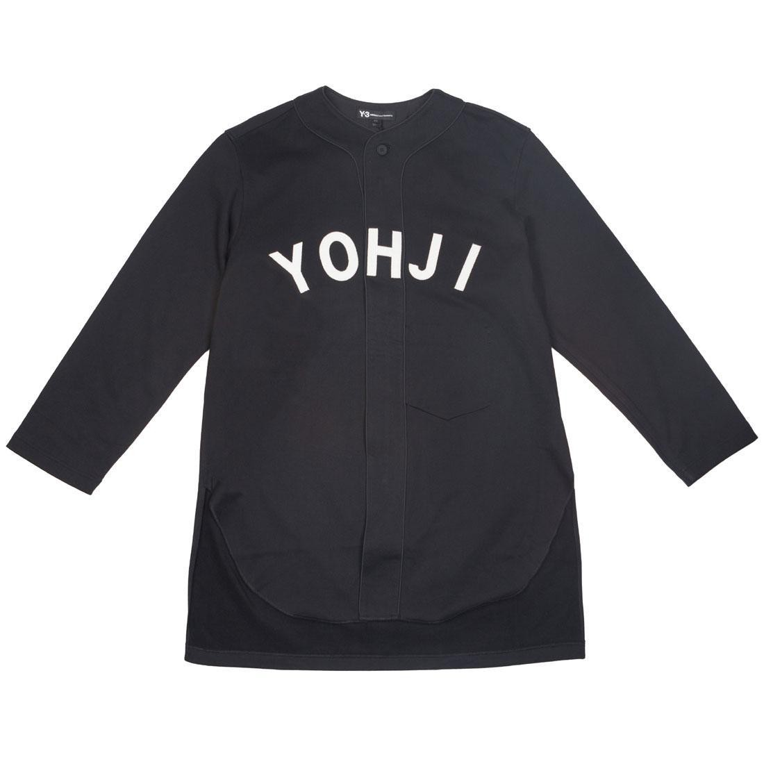 Adidas Y-3 Men FT Yohji Letters Baseball Shirt (black / off white)