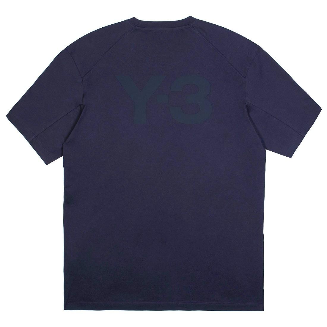 Adidas Y-3 Men Classic Back Logo Tee (blue / legend ink)