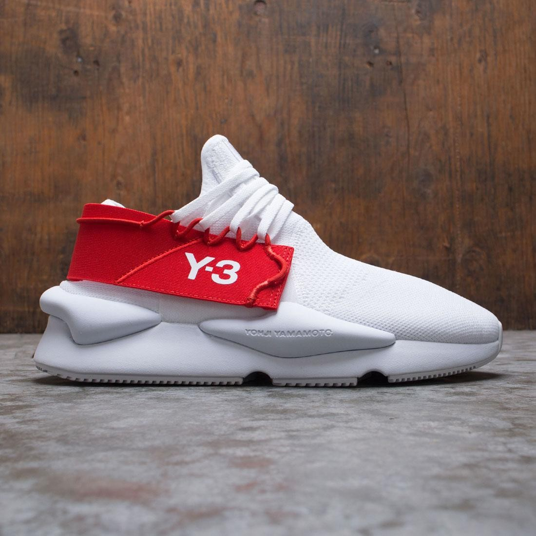 Adidas Y-3 Men Kaiwa Knit (white / footwear white / red)