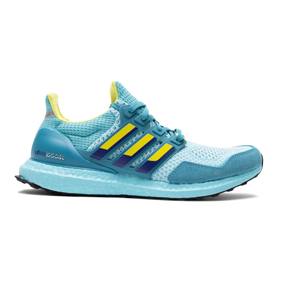 Adidas Men UltraBoost 1.0 DNA (blue / light aqua / shock yellow / unity purple)
