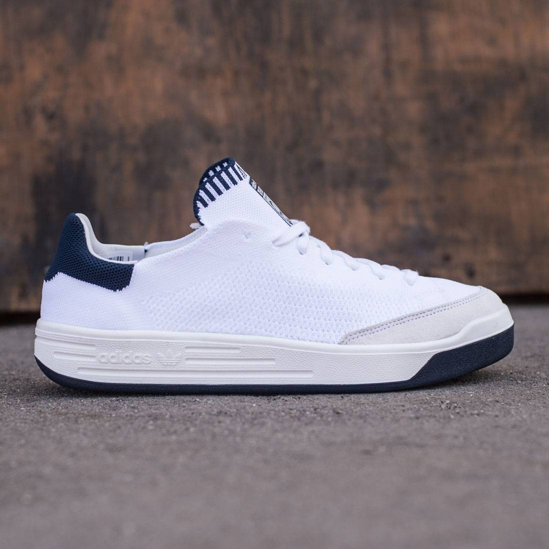 Adidas Men Rod Laver Super Primeknit (white footwear white collegiate navy)