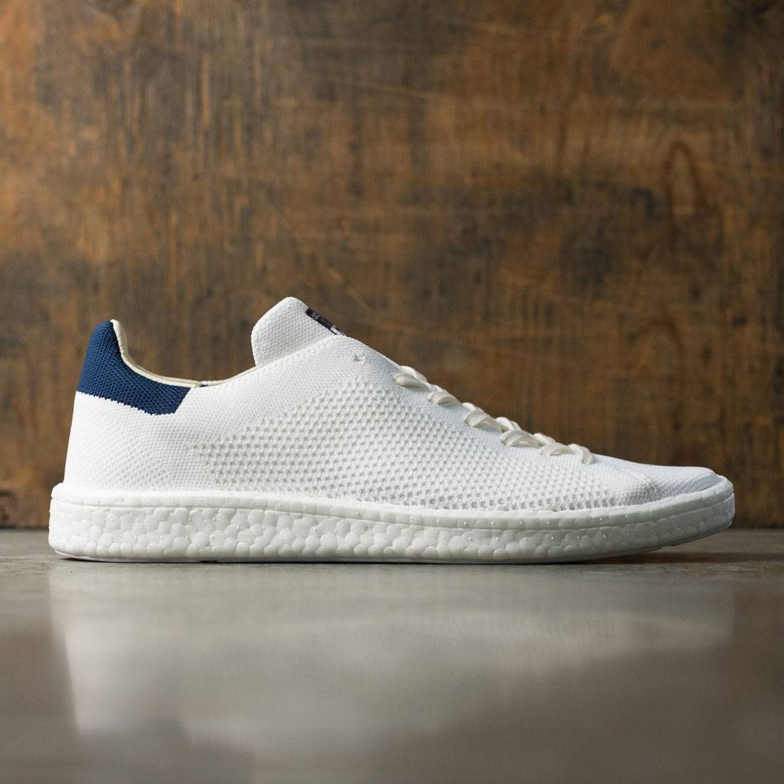 Adidas Men Stan Smith Boost Primeknit white footwear white collegiate navy 49c7a4b1103b7