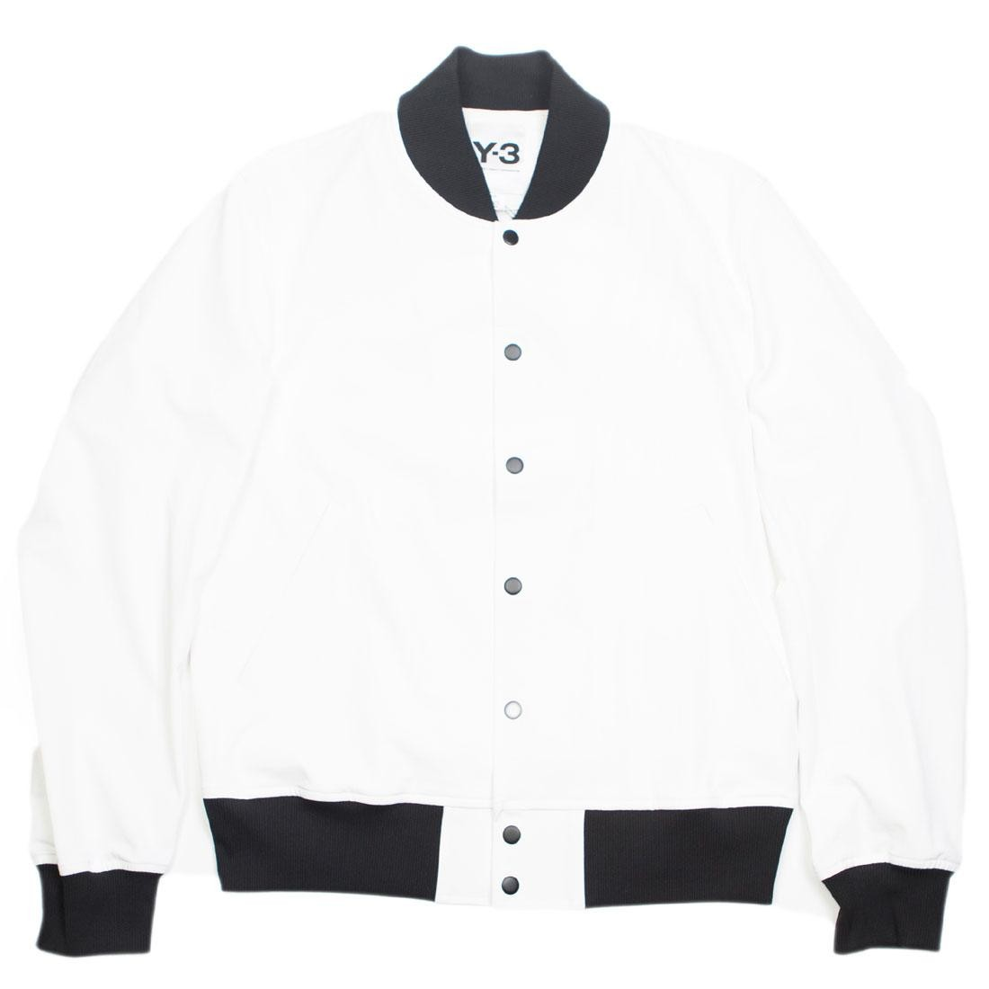 Adidas Y-3 Men PU Bomber Jacket (white / black)