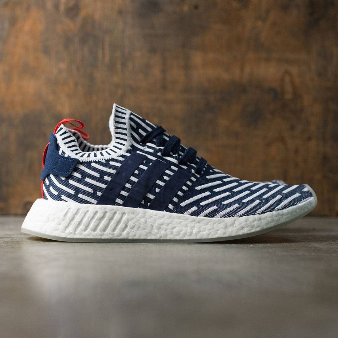 Adidas Men NMD R2 Primeknit navy collegiate green footwear white f6ffe9d34781