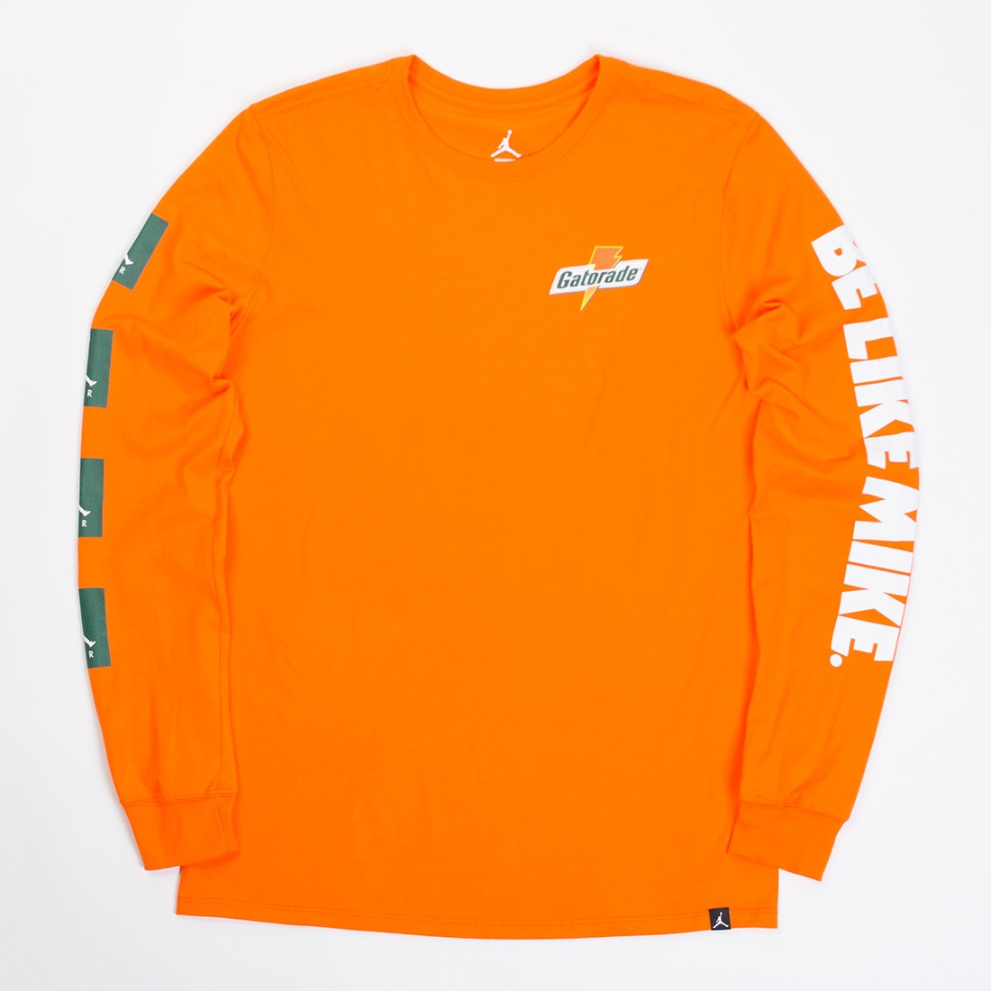 3b921f37927c6d jordan men jordan sportswear be like mike long sleeve tee orange safety  orange