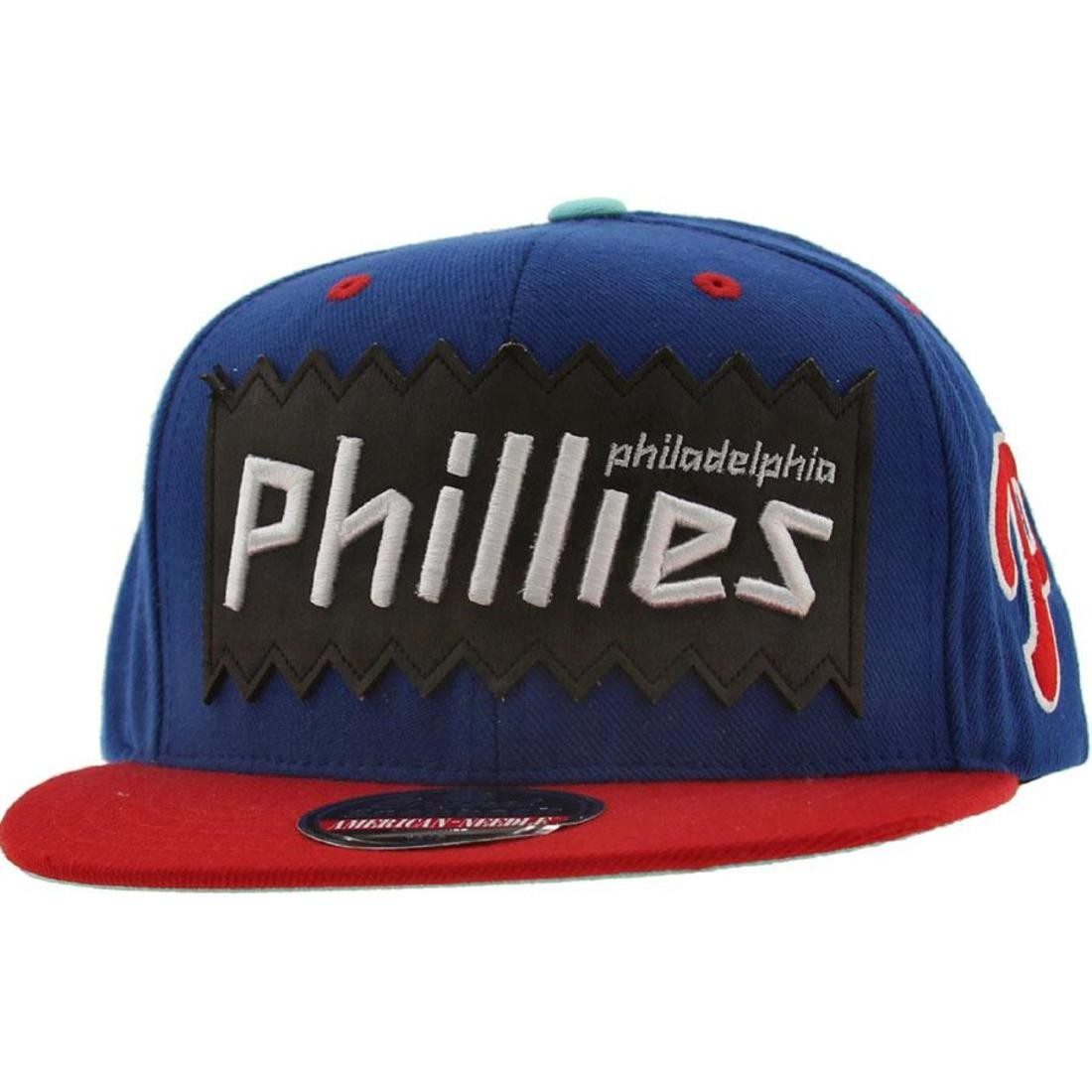 BAIT x MLB x American Needle Philadelphia Phillies Retro Snapback Cap (royal / red)