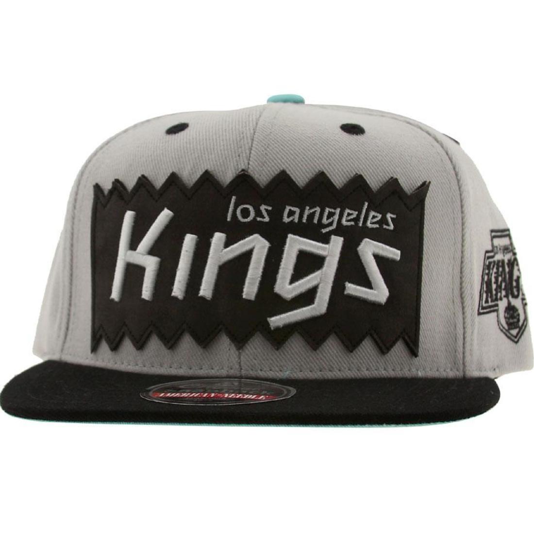 BAIT x NHL x American Needle Los Angeles Kings NHL Retro Snapback Cap (silver / black)