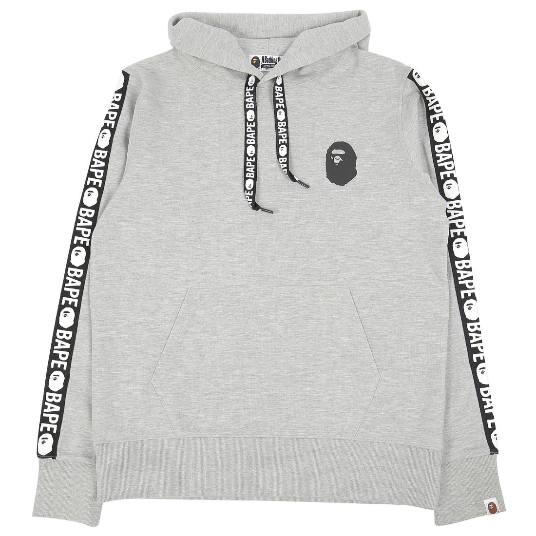 A Bathing Ape Men Bape Double Knit Pullover Hoodie (gray)