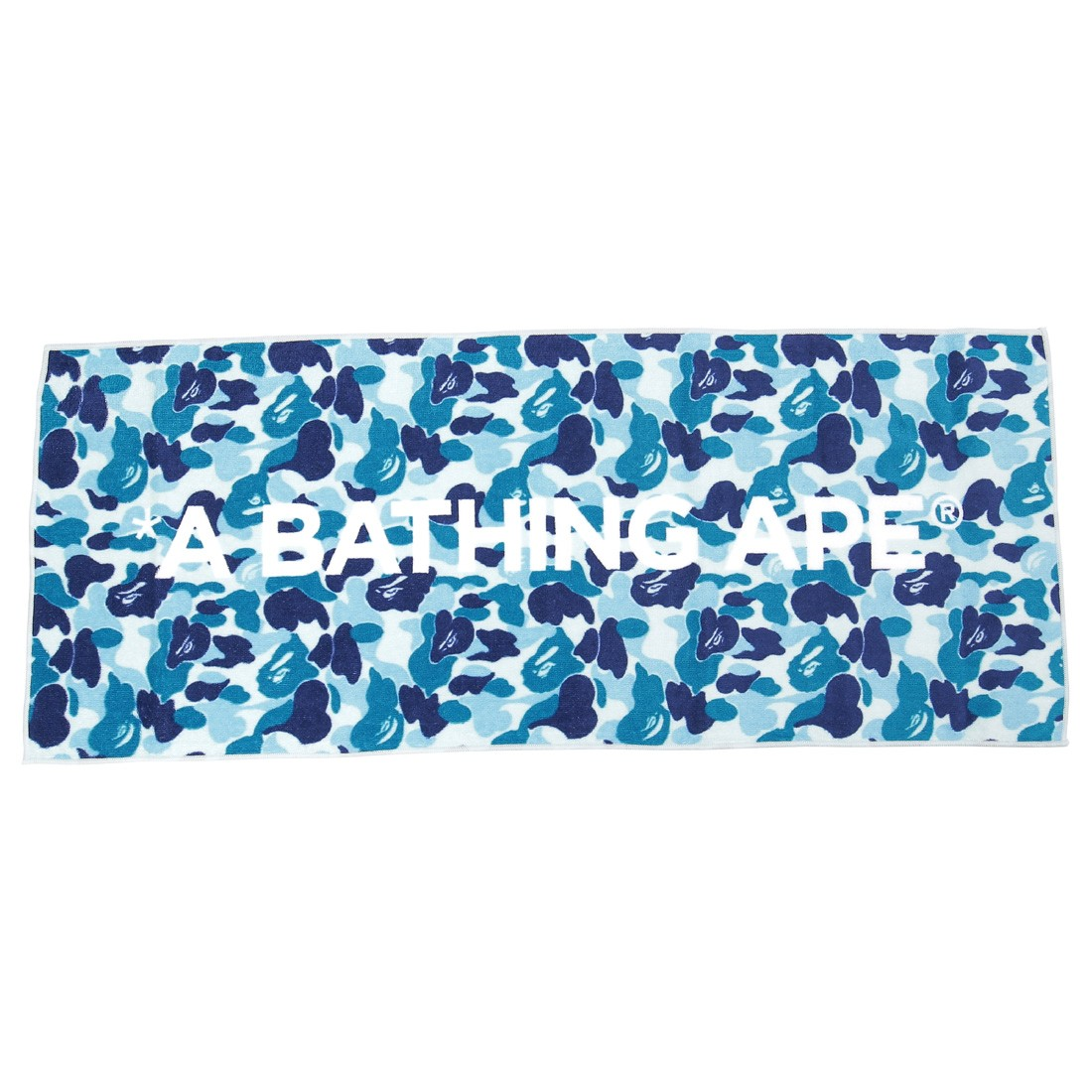 A Bathing Ape ABC Camo Sport Towel (blue)