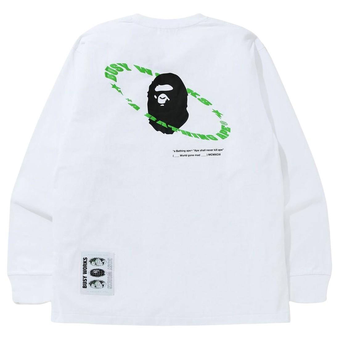 A Bathing Ape Men Universe Ape Loose Fit Long Sleeve Tee (white)
