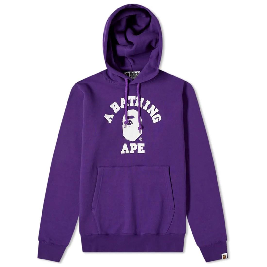 A Bathing Ape Men College Pullover Hoodie (purple)