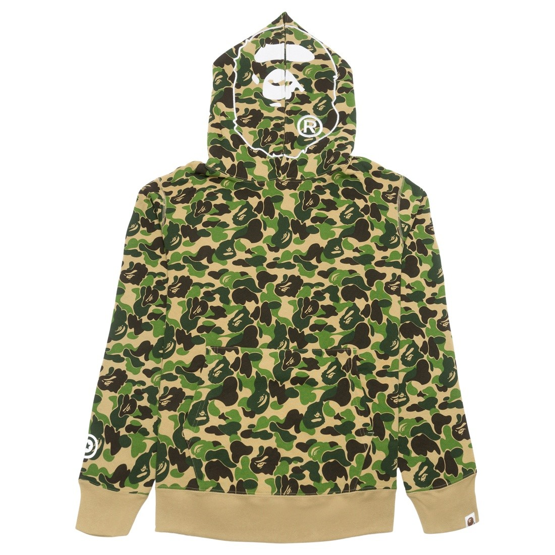 A Bathing Ape Men ABC Camo 2nd Ape Wide Pullover Hoodie (green)