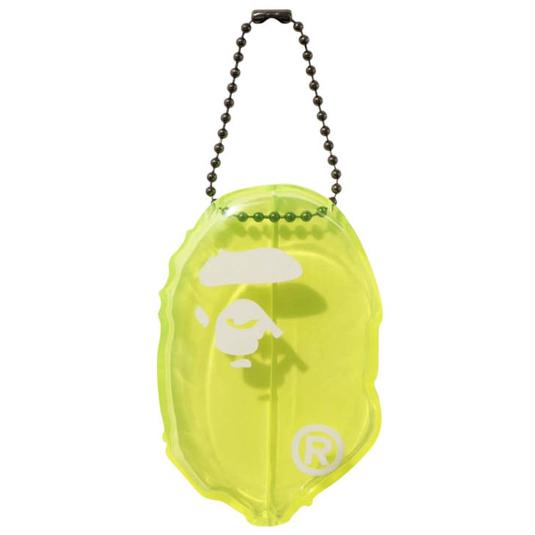 A Bathing Ape Ape Head Clear Coin Case (yellow)