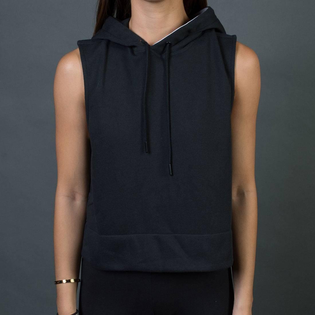 3c117aa6d1068 Adidas Women Sleeveless Pullover Hoodie black