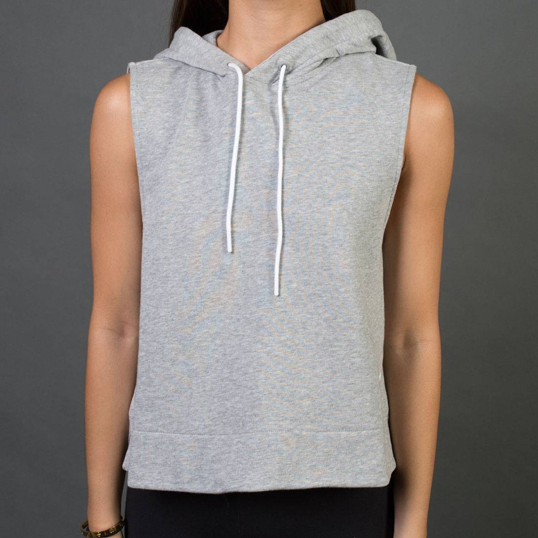 be9f8e056347 Adidas Women Sleeveless Pullover Hoodie gray medium grey heather