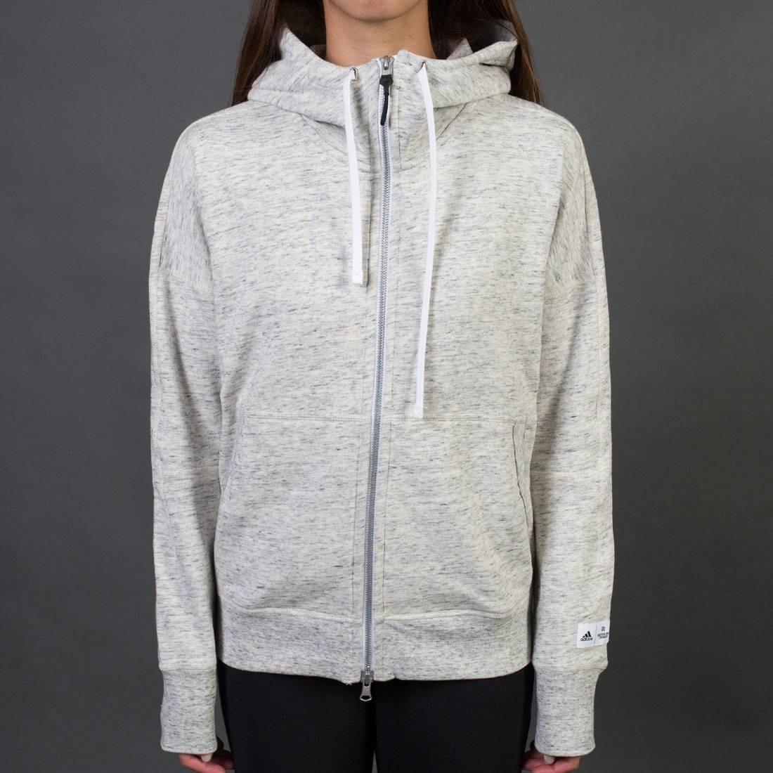 Adidas x Reigning Champ Women AARC FTFZ Hoodie (white / heather grey)