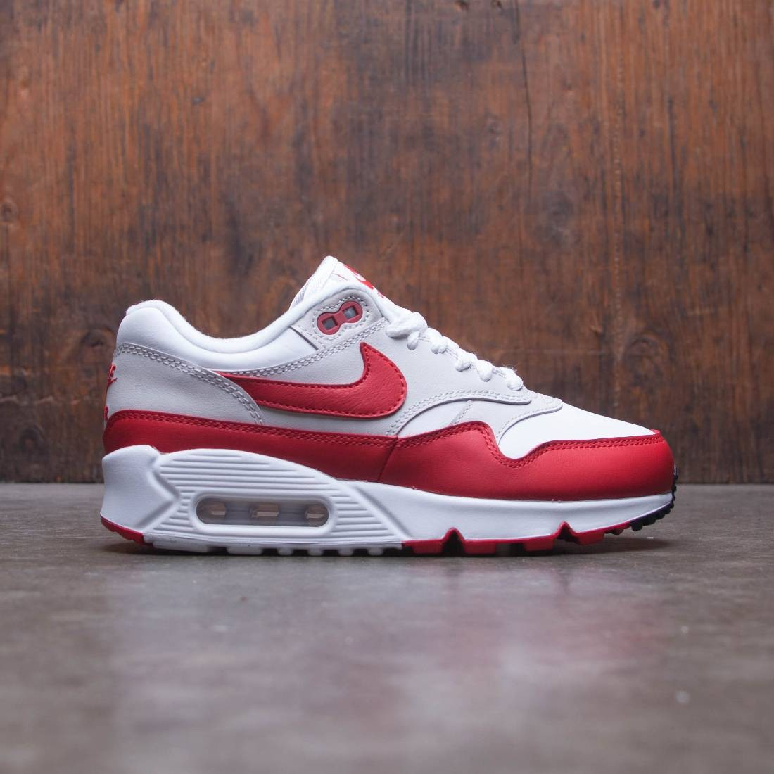 factory outlet well known big discount Nike Women Air Max 90 / 1 (white / university red-neutral grey-black)