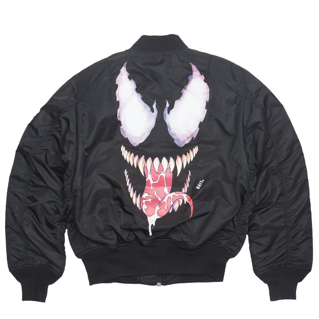 BAIT x Marvel x Alpha Industries Men MA1 Venom Reversible Jacket (black)