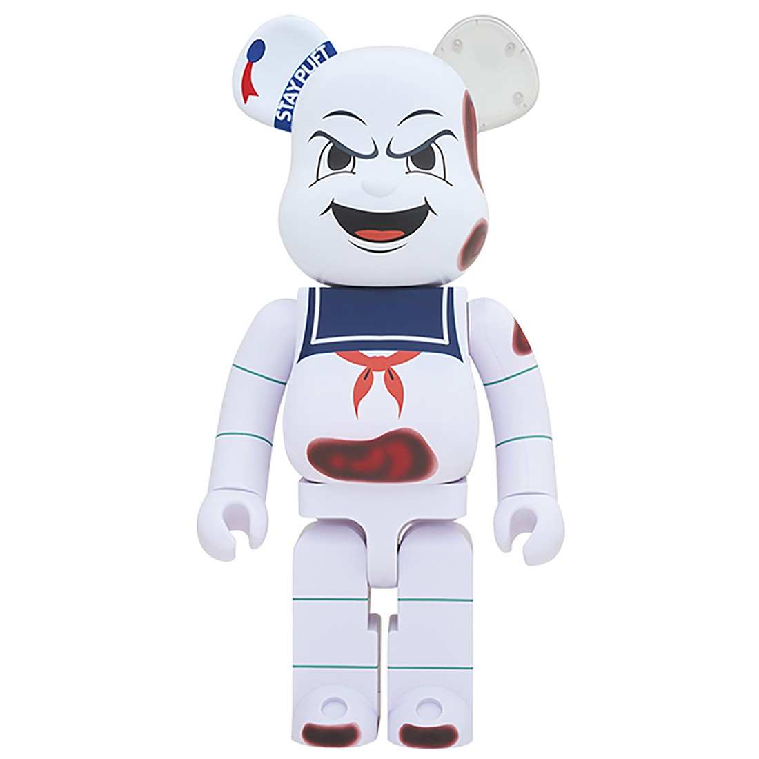 PREORDER - Medicom Ghostbusters Stay Puft Marshmallow Man Anger Face 1000% Bearbrick Figure (white)