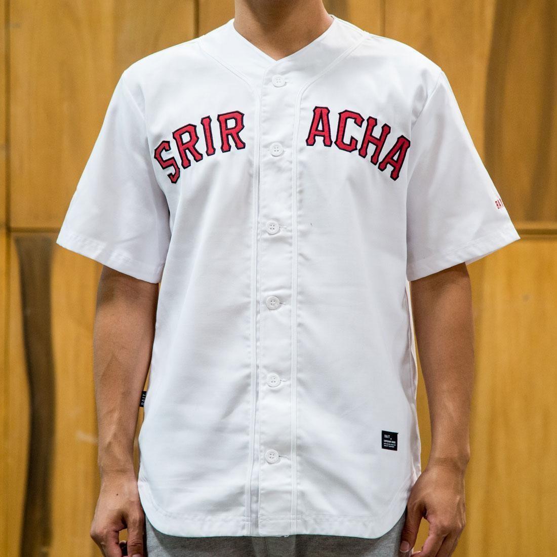 best website b86c1 6afa8 BAIT x Sriracha Men Baseball Jersey (white)