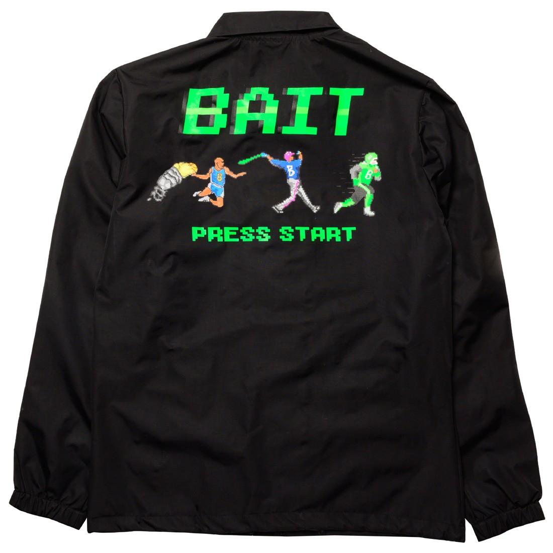 BAIT Men 8 Bit Press Start Coaches Jacket (black)