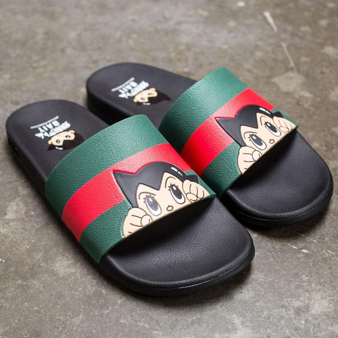BAIT x Astro Boy Men Face Logo Slides (black)