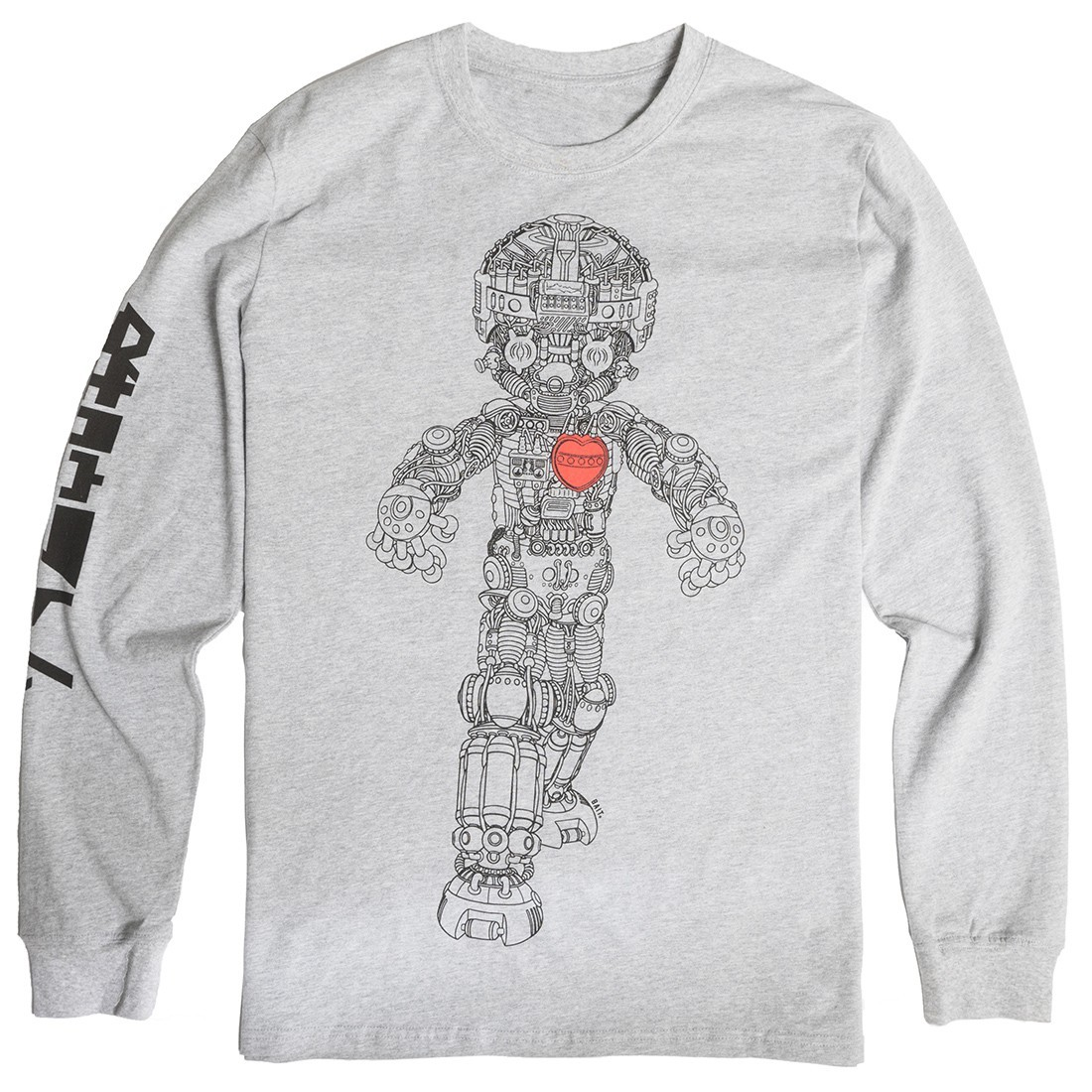 BAIT x Astro Boy Men Mechanical Long Sleeve Tee (gray)