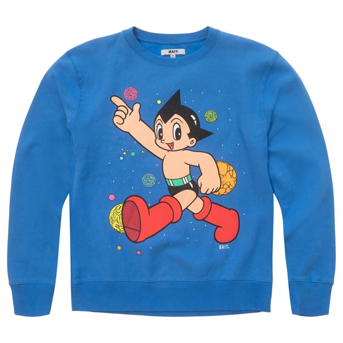 BAIT x Astro Boy Men Space Puff Print Premium Crewneck Sweater (blue)