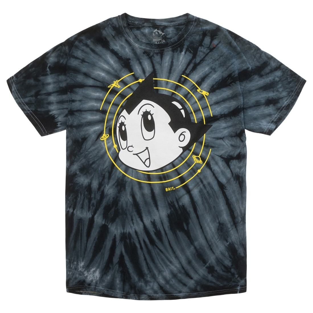 BAIT x Astro Boy Men Spiral Tie Dye Glow In The Dark Tee (black / green)