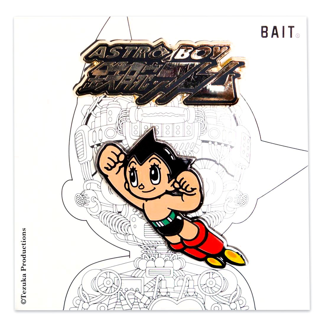 BAIT x Astro Boy Tetsuwan Atom Launch 2 Pins (multi)