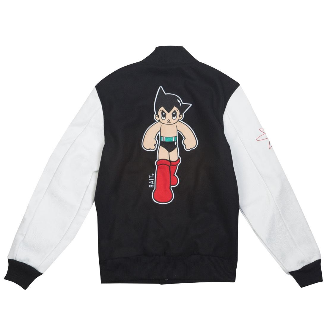 BAIT x Astro Boy Men Step Varsity Jacket (black / white)