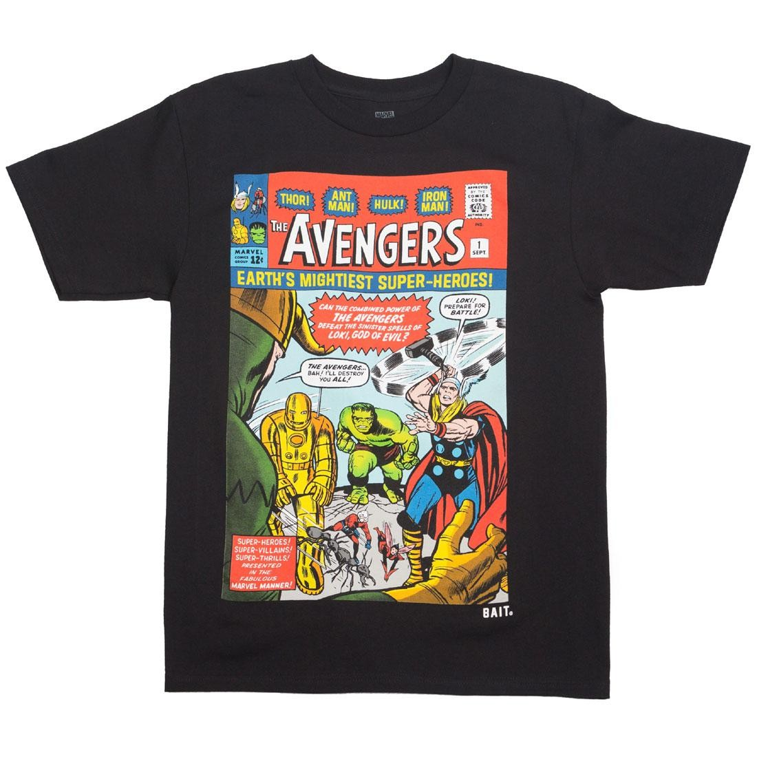BAIT x Marvel Men Avengers - Earth's Mightiest Heroes Tee (black)