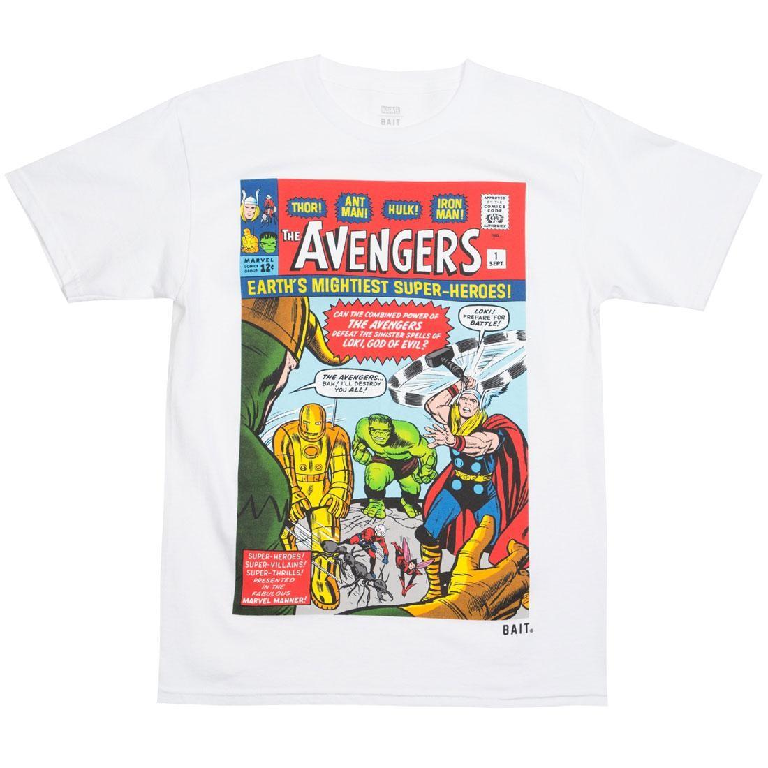 BAIT x Marvel Men Avengers - Earth's Mightiest Heroes Tee (white)
