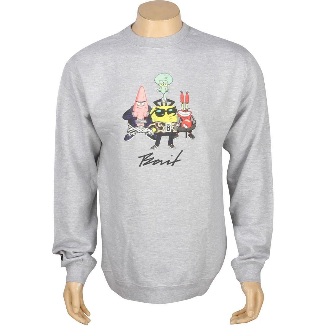 BAIT x SpongeBob Group Crewneck (grey heather)