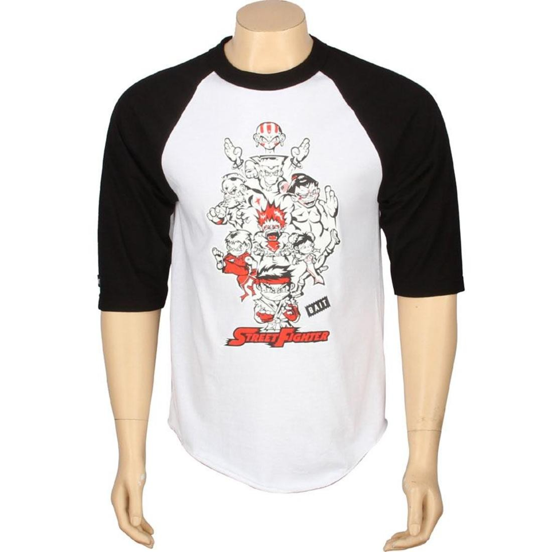 BAIT x Street Fighter Artist Series Originals Raglan - Jerome Lu (white / black)