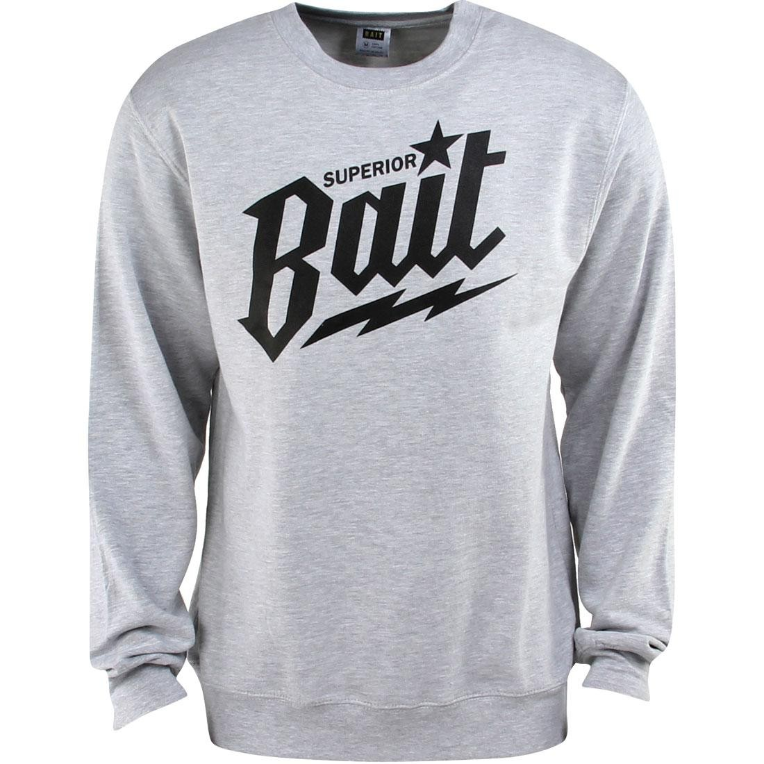 BAIT Superior BAIT Crewneck (gray / heather gray / black)