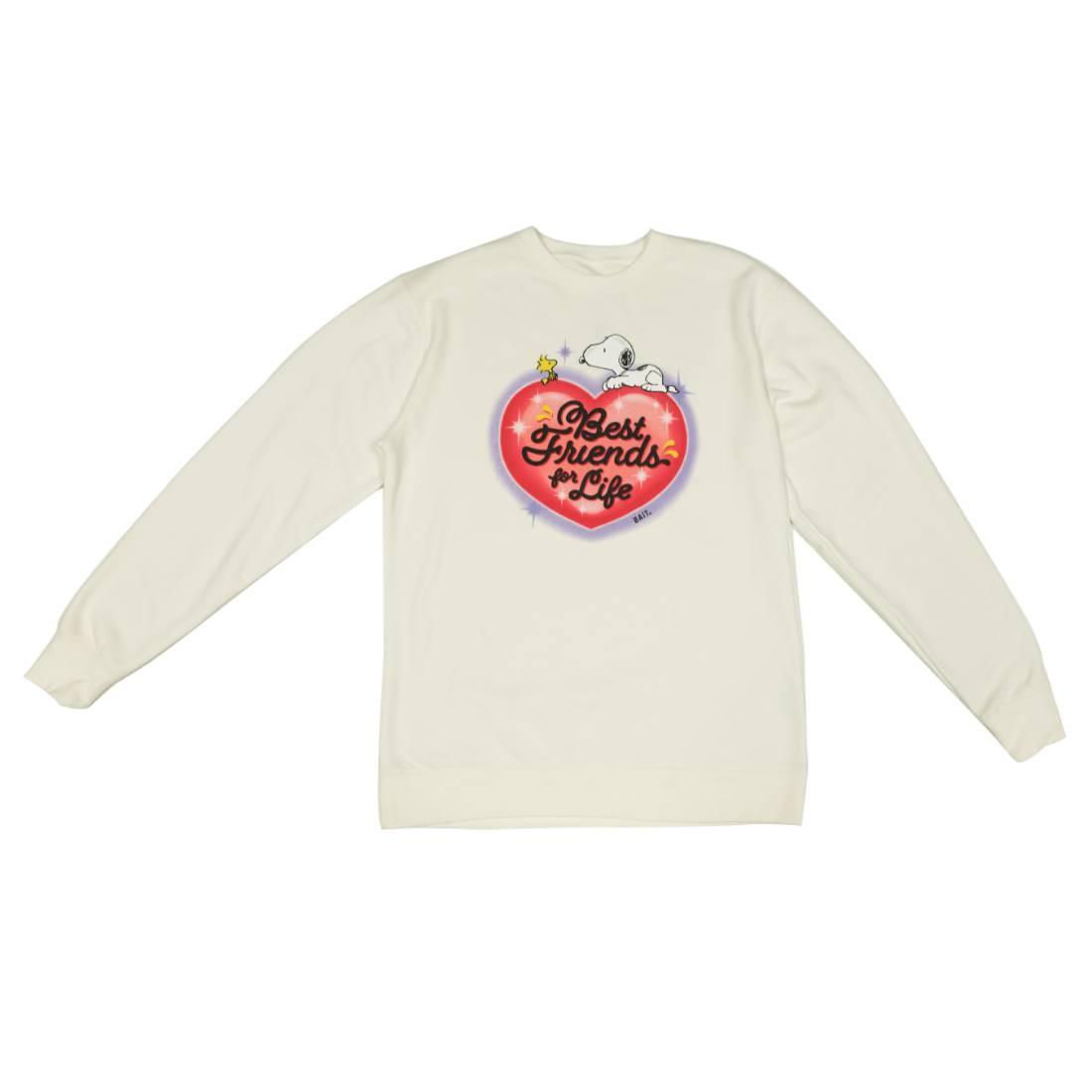 BAIT x Snoopy Men Best Friends Airbrush Crewneck Sweater (white)