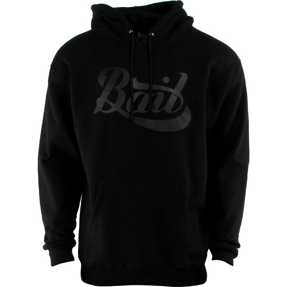 BAIT Script Logo Pullover Hoody (black / black)